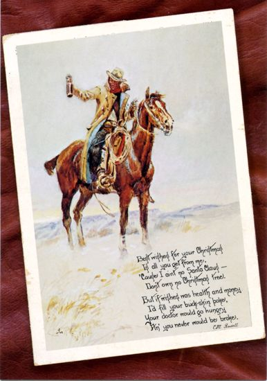 Picture of C M Russell Christmas Cards: Best Wishes (diagonal)