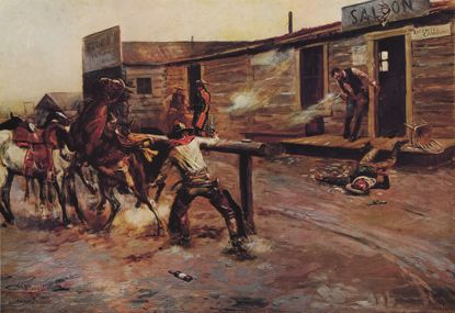 Picture of Gunfighters (Charles M. Russell Print)