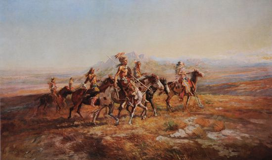 Picture of Sun River War Party (Charles M. Russell Print)