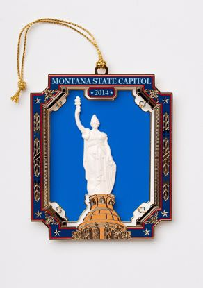 Picture of 2014 Montana State Capitol Ornament - The Montana Statue