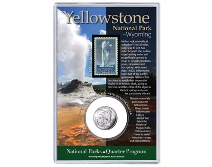 Picture of Quarter & Stamp Set - Yellowstone National Park