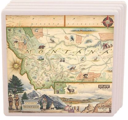 Picture of Montana Map Ceramic Coaster