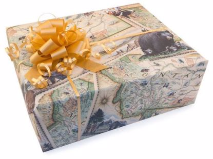 Picture of Montana Map Gift Wrap