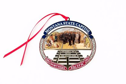 Picture of 2013 Montana State Capitol Ornament - Driving the Golden Spike on the Northern Pacific Railroad