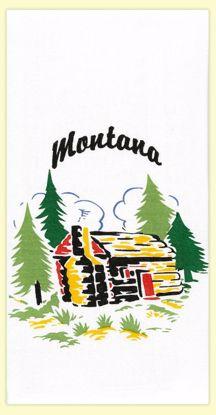 Picture of Souvenir Towel - Montana Cabin