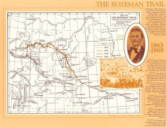 Picture of Map: Bozeman Trail, 1863-1868