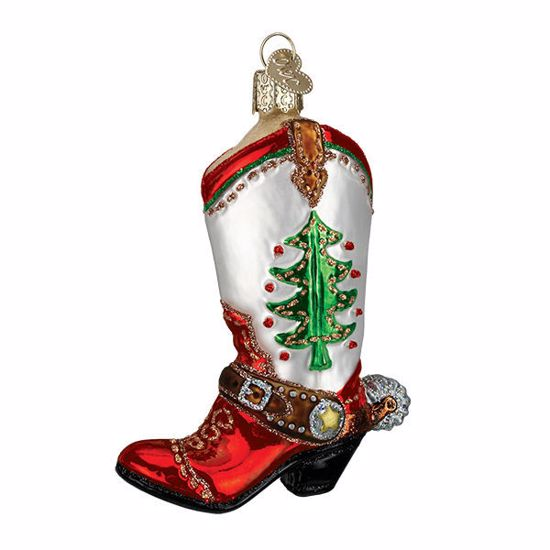 Picture of Ornament - Christmas Cowboy Boot