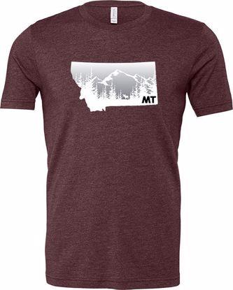 Picture of T-Shirt - Moose, Mountains, Montana -Medium