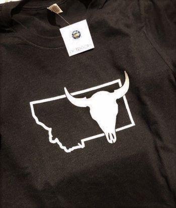Picture of T-Shirt - Montana Buffalo Skull - Medium