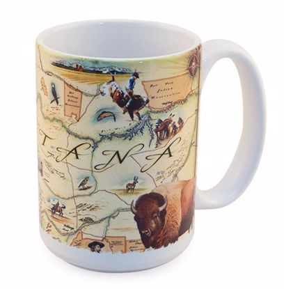 Picture of Mug - Montana Map Ceramic Mug