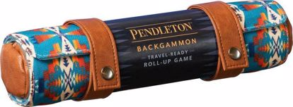 Picture of Pendleton Backgammon: Travel-Ready Roll-Up Game