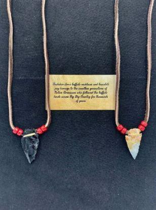 Picture of Buffalo Hide Arrowhead Necklace