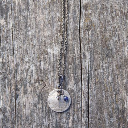 Picture of Buffalo Nickel & Lapis Necklace