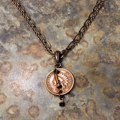 Picture of Indian Head Penny & Bead Necklace