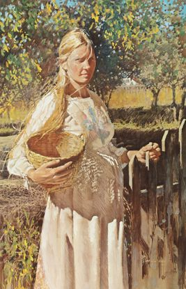 Picture of Jessica Zemsky Print: Woman Waiting for Her Harvest