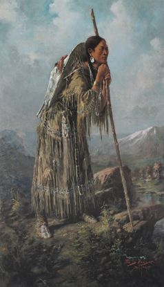 Picture of Edgar Paxson Print: Sacagawea