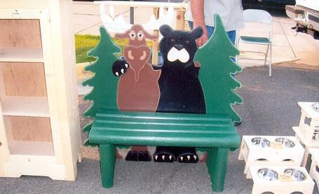 Bear Moose Bench, Pet Food Feeders