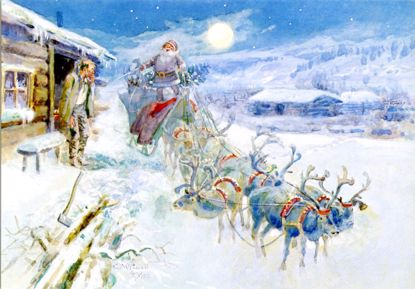 Picture of C M Russell Christmas Cards: Christmas at the Line Camp