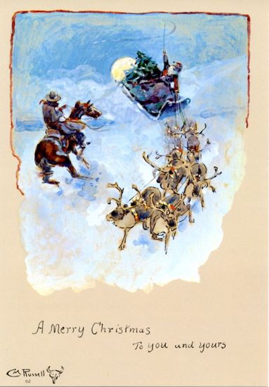 Picture of C M Russell Christmas Cards: Merry Christmas to You and Yours