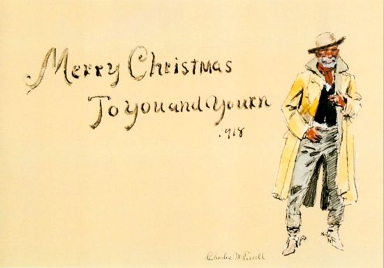 Picture of C M Russell Christmas Cards: To You and Yourn