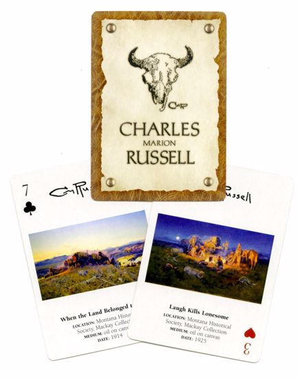 Picture of Charles M. Russell Playing Cards