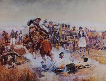 Picture for category C M Russell Prints