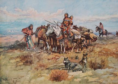 Picture of Breaking Camp (Charles M. Russell Print)