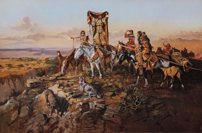 Picture of In the Wake of the Hunters (Charles M. Russell Print)
