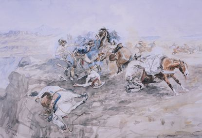 Picture of The Last Stand (Charles M. Russell Print)