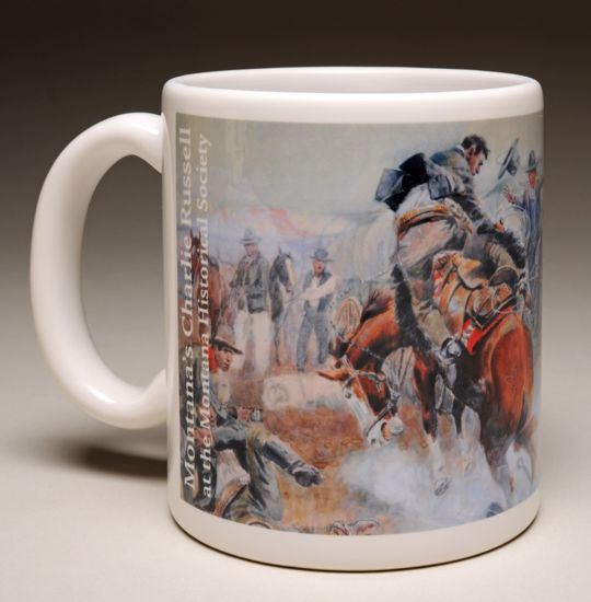 """Picture of Mug - C M Russell's """"Bronc to Breakfast"""""""