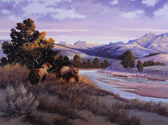 Picture of Bob Morgan Print: White Bears & White Cliffs