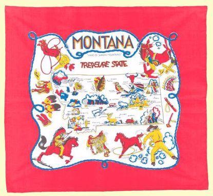 Picture of Souvenir Towel - Montana Map