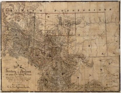 Picture of Map: Montana Territory Map, 1865