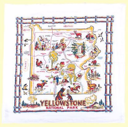 Picture of Souvenir Towel - Yellowstone Map