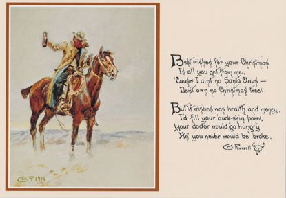 Picture of C M Russell Christmas Cards: Best Wishes (rectangular)