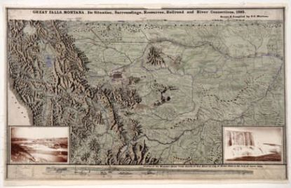 Picture of Map: Great Falls, Montana Map, 1893