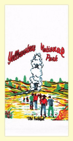 Picture of Souvenir Towel - Old Faithful Yellowstone National Park