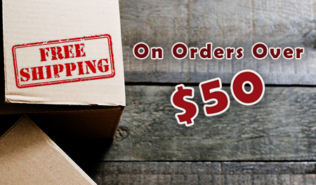 Picture for category Free shipping on orders over $50.00. Click here for details