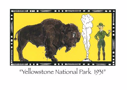 Picture of Notecard - Yellowstone Bison by Jo Mora