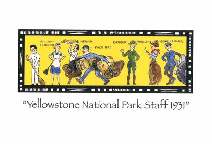 Picture of Notecard - Yellowstone Staff by Jo Mora