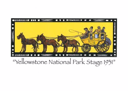 Picture of Notecard - Yellowstone Stage by Jo Mora