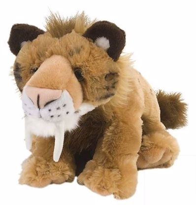 """Picture of Stuffed Toy - Smilodon Saber-Toothed Cat 12"""""""