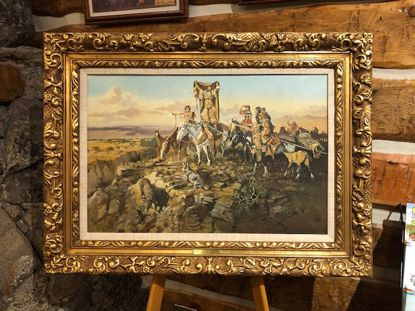 Picture of In the Wake of the Hunters (Charles M. Russell Limited Edition Framed Print on Canvas) ***FOR PICKUP ONLY***