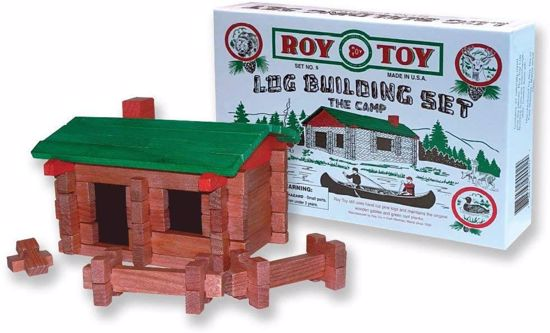 Picture of Roy-Toy 37 pc. Log Building Set - Log Cabin