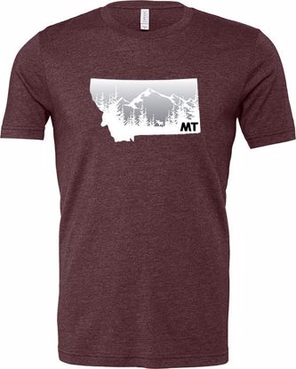 Picture of T-Shirt - Moose, Mountains, Montana - Small
