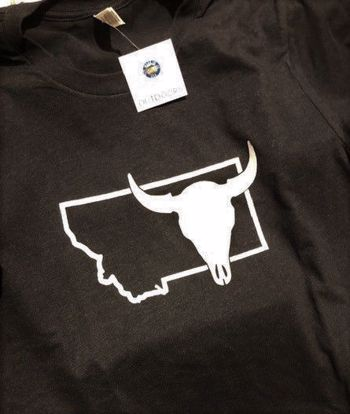 Picture of T-Shirt - Montana Buffalo Skull - Small