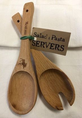 Picture of Wooden Salad Servers - Classic Spoon & Fork