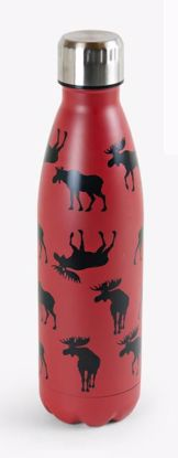 Picture of Water Bottle - Moose on Red