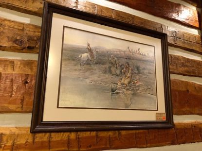 Picture of The Chaperone (framed) (Charles M. Russell Print)