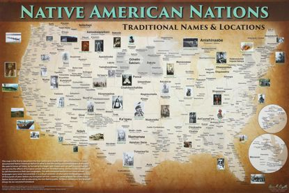 Picture of Poster: Native American Nations Map